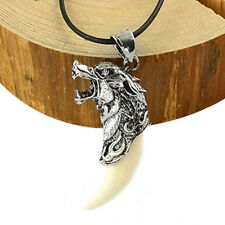 Salls Man Wolf Tooth Necklace Titanium Steel Domineering Pendant Jewelry