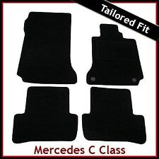 Mercedes C-Class W204 Manual 2007-2014 Tailored Fitted Carpet Car Mats BLACK