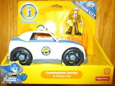 Imaginext DC Super Friends COMMISSIONER GORDON & POLICE CAR GOTHAM CITY EXCLUSVE