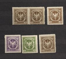 Poland Local stamps legion legions 1916 labels ciderella