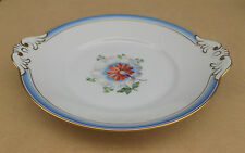 ROYAL COPENHAGEN Blue / Gold with Flower Handled Deeep Plate 11 x 10 Inches