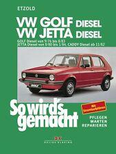 WERKSTATTHANDBUCH SO WIRD´S WIRDS GEMACHT 9 VW VOLKSWAGEN GOLF JETTA CADDY DIESE