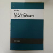 vocal score HANDEL the king shall rejoice , 4 part arr
