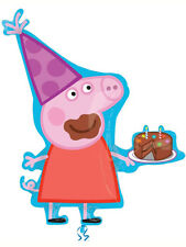 """33"""" Peppa Pig & Birthday Cake Supershape Foil Balloon Ideal Party Decoration"""