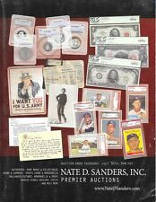 Nate D. Sanders Autographs Entertainment Memorabilia Auction Catalog July 2009