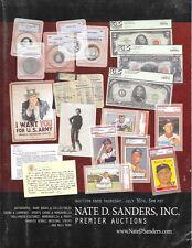Nate D. Sanders Autographs Entertainment Memorabilia Auction Catalog July 2009