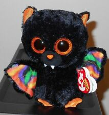 "Ty Beanie Boos ~ SCAREM the 6"" Halloween Black Bat ~ NEW with MINT TAGS"