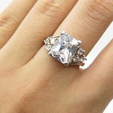 925 Sterling Silver C Z Ring Size 5 3/4