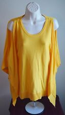 MICHAEL KORS 100% Authentic Yellow Poncho Sweater Top Women Size XS MSRP $110