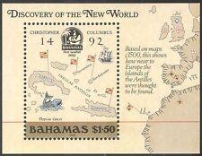 Bahamas 1988 Columbus/Mapas/barcos/Navegación/exploración/Explorers 1v m/s (b9135)
