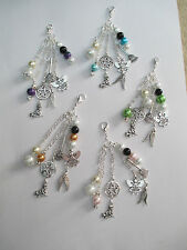 WICCA WITCH PAGAN HANGING BAG/PHONE/PURSE CHARMS.WITCH PENTAGRAM WINGS ANGEL ETC