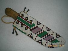 Beaded Native American Knife Sheath c Knife, Old Style; Indian Made