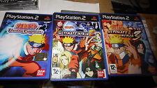 jeu PS2 , lot de 3 jeux Naruto 1 + 2 + 3