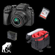 Panasonic Lumix dmc-g70 + G vario 14-42 mm OIS + 32 GB + blc-12 + actionblack