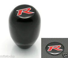 BLACK RACING R STYLE MT MANUAL TRANSMISSION GEAR SHIFT KNOB + RED R EMBLEM HONDA
