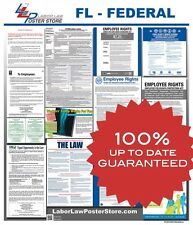 2017 Florida FL State & Federal all in one LABOR LAW POSTER workplace compliance