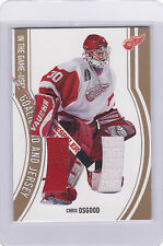 2002/03 Chris Osgood  ITG Used Goalie Pad and Jersey GOLD /10  BV $50