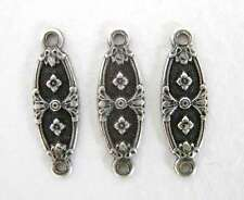 Nouveau Flower Connector Antiqued Silver Ox Finding Plated Link 18mm