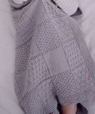KNITTING PATTERN -  2 LOVELY DK BABY BLANKETS/SHAWLS TEXTURED & DIAMOND PATTERN
