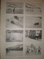 Printed photos Winter Sports at St Moritz Switzerland 1897 my ref L