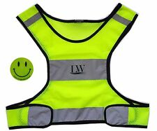 LW Reflective Running Vest with Bonus Sticker - Small/Medium New Biking Walking