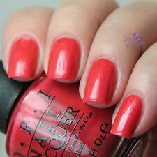 NEW! OPI Nail Polish Vernis GO WITH THE LAVA FLOW ~ Shimmery Watermelon Red