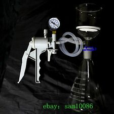 1000ml,Glass Suction Filtration Kit,Buchner Funnel,Erlenmeyer Flask,Vacuum Pump