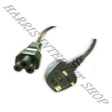 3 Pin UK (3 Prong Clover Leaf) Laptop Power Cable/Lead/Cord for Laptop Adapter