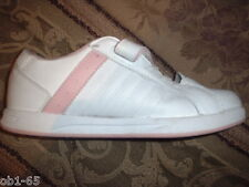 K-SWISS Girls Running Shoes Size 2.5 Velcro gently used Kswiss Pink White tongue