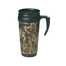MOSSY OAK CAMO LEATHER TRAVEL COFFEE MUG - CHOOSE DESIGN