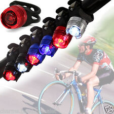 LED Bicycle Cycling Bike Front Rear Tail Helmet Flash Light Warning Lamp Safety