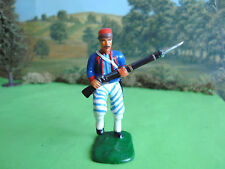 Armies in plastic American civil war Union Zouave charging 1:32 painted