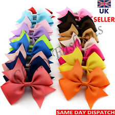 20 X Handmade Big Bow Hair Clip Alligator Clips Girls Kids Sides Accessories