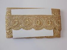 gold Sequin asian Indian lace wedding dance costume ribbon mesh rhinestone
