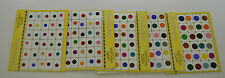 Indian Multi Color Round Bindi 5 Pack Of Different Size Regular Ware Party Ware