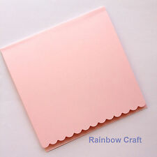 5 blank Cards & Envelopes SQUARE or C6 (9 Colors) - Scallop Wedding Invitation