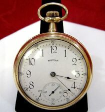 EQUITY ANTIQUE GOLD FILLED POCKET WATCH PHILA. W.C.CO BOSTON 7 JEWELS RUNS GREAT