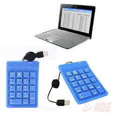 Numeric Keypad Number w/ Retractable USB Cable for Laptop or PC