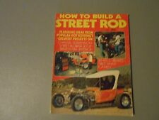 1975 HOW TO BUILD STREET RODS VOLUME1 ISSUE MAGAZINE,CHASSIS,BLOWERS,FLAMES,FIX
