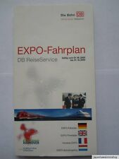 EXPO 2000 World's Fair Hannover Fahrplan Train Timetable DB Railways Horaires