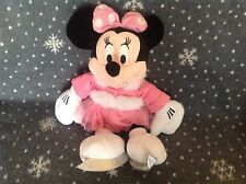 "Disneystore grand patinage sur glace minnie mouse 15"" tall soft plush toy new"