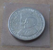 Segunda Guerra Mundial Día D Normandía aterrizajes Bertram Ramsey 1994 Islas Turcas y Caicos 5 Coronas moneda UNC