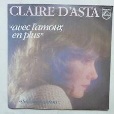 CLAIRE D ASTA Avec l amour en plus Douce chanson  6010475