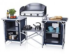 CamPart Travel Camping Outdoor Kitchen With 4 Adjustable Feet And Windshield