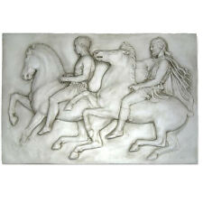 Athens Parthenon Frieze Two Horseman Fragment Slab VI Western relief Replica