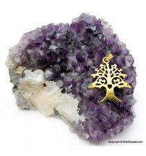 Christmas Tree Gold Plated Chakra Pendant Reiki Healing Uk