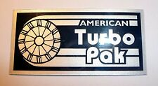 ATP AMERICAN TURBO PAK BRUSHED SILVER FOIL DECAL BADGE RAJAY Z1R TC Z1 DRAG