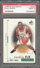 Paul Pierce Celtics Wizards 1998 SP Authentic #100 Rookie Card rC PSA 9 Mint QTY