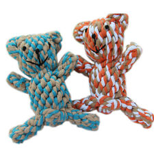 PET KNOTTIES BEAR DOG PUPPY CAT DENTAL FLOSS TOUGH ROPE CHEW TOY