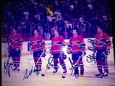 MONTREAL CANADIENS Autographed 8 x 10 LINEUP/ANTHEM Team Photo - RICHER, CORSON